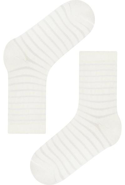 Penti Siyah - Çok Renkli Kız Çocuk Stripes 3'lü Soket Çorap