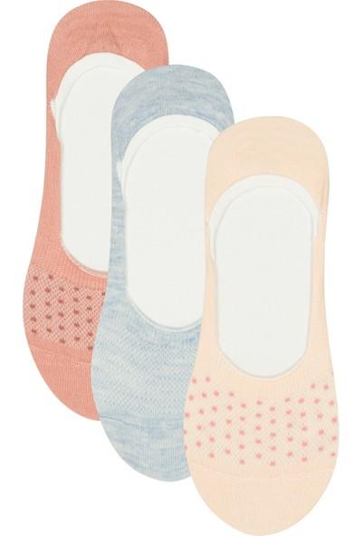 Penti Çok Renkli Doku Dot 3'lü Babet Çorabı
