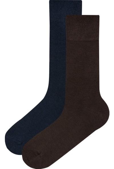 Penti Lacivert Erkek Bambu 2'li Soket Çorap