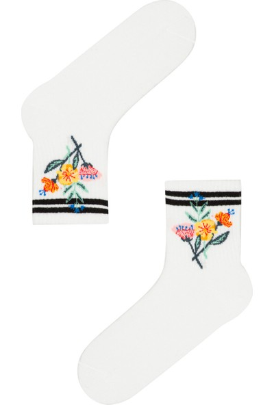 Penti Optik Beyaz Bucket Soket Çorap