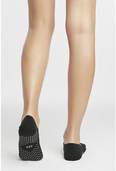 Penti Siyah Active Glitter Point Babet Çorap