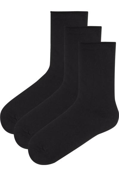 Penti Siyah Kız Çocuk Basic 3'lü Soket Çorap