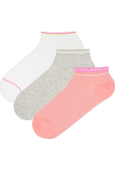 Penti Çok Renkli Beach 3'lü Patik Çorap
