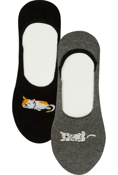 Penti Çok Renkli Cats 2'li Babet Çorabı