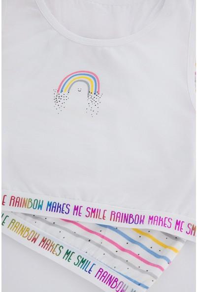 Penti Çok Renkli Teen Rainbow 2'li Spor Atlet