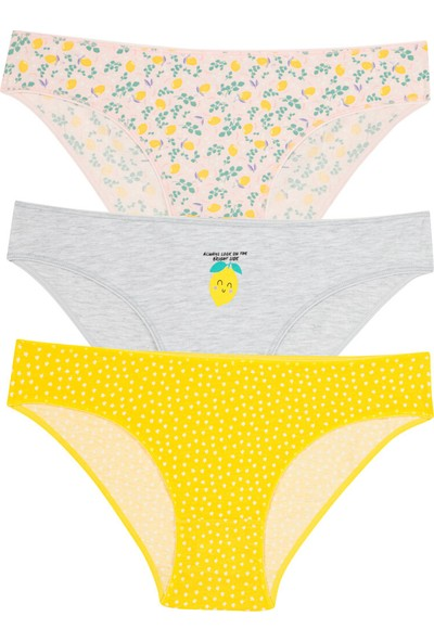 Penti Çok Renkli Lemon 3'lü Slip