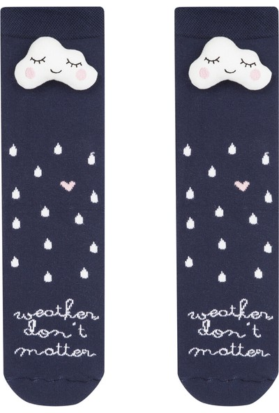 Penti Lacivert Weather Soket Çorap