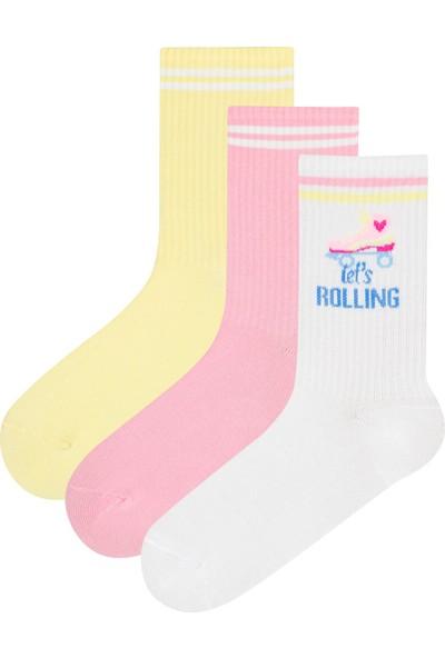 Penti Çok Renkli Skate 3Lü Soket Çorap