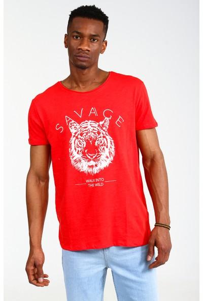 Collezione Erkek Kırmızı Regular T-Shirt