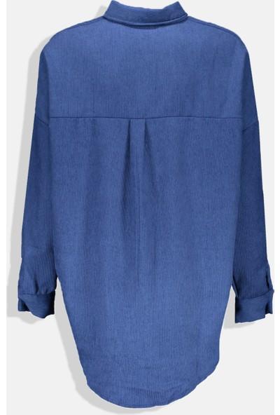 Collezione Kadın İndigo Regular Tunik