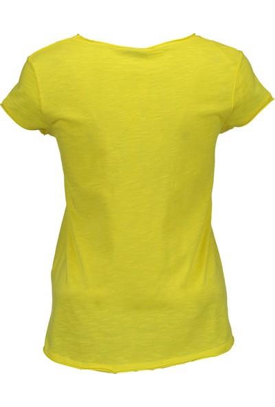 Collezione Kadın Sarı Regular T-Shirt