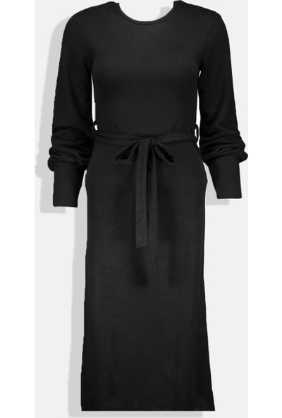 Collezione Kadın Siyah Slim Elbise