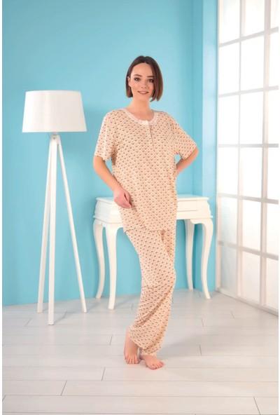 Estiva Kadın Büyük Beden Viskon Pijama Takımı