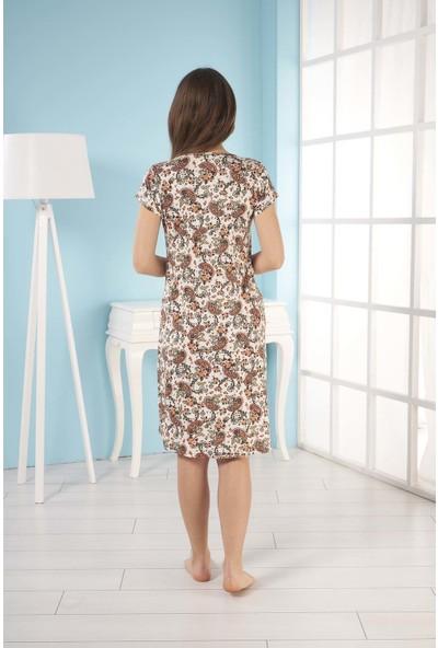 Estiva Kadın Kısa Kol Viskon Elbise