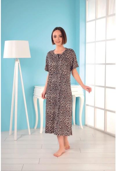 Estiva Kadın Viskon Kısa Kol Elbise