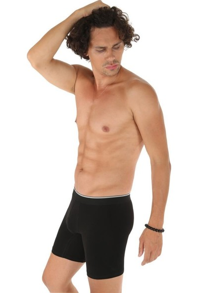 Donkshot 6 Adet Likralı Uzun Erkek Boxer 1004