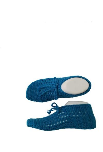 Nuh Home El Yapımı Kadın Çorap Mavi Renk Çorap 22