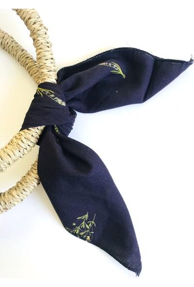 Duanil Kadın Ççiçek Desen Pamuk Çanta Aksesuar Fuları