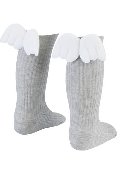 Bebeğime Çorap Melek Kanadı Dizaltı Çorap Kız Çocuk