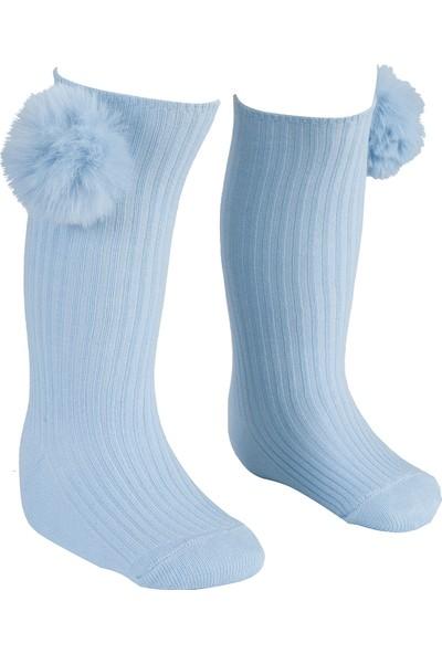 Bebeğime Çorap Ponpolu Dizaltı Çorap Kız Çocuk