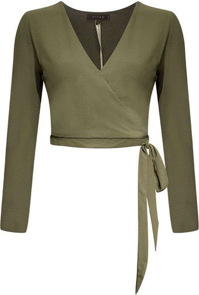 Rivus Anvelop Bağlamalı Bluz
