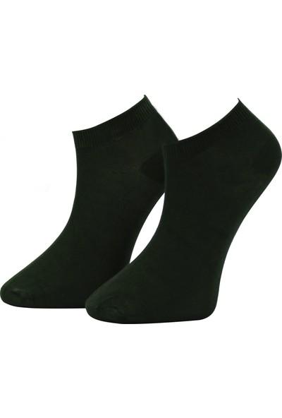 Adabella 12 Çift Siyah Erkek Bambu Dikişsiz Soket Kısa Çorap