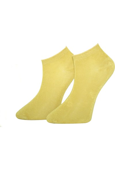 Adabella 6 Çift Hardal Sarı Erkek Bambu Dikişsiz Soket Kısa Çorap