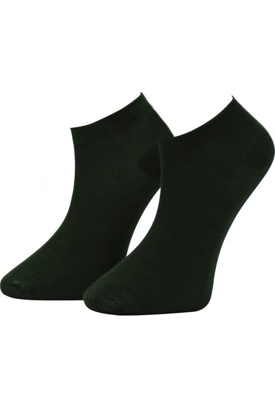 Adabella 6 Çift Siyah Erkek Bambu Dikişsiz Soket Kısa Çorap