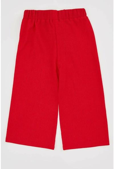 DeFacto Kız Çocuk Bağlama Detaylı Wide Leg Pantolon