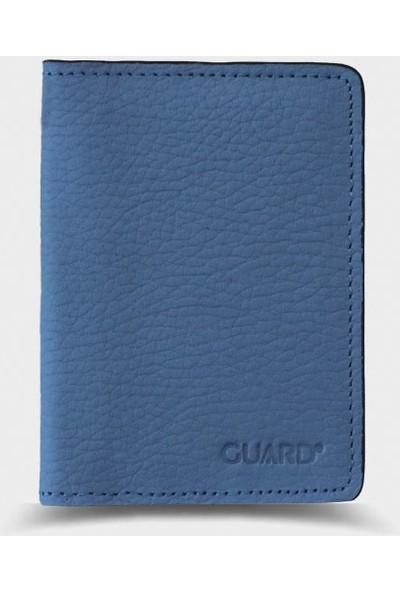 Guard Leather Guard Turkuaz Örgülü Deri Kartlık - 5191