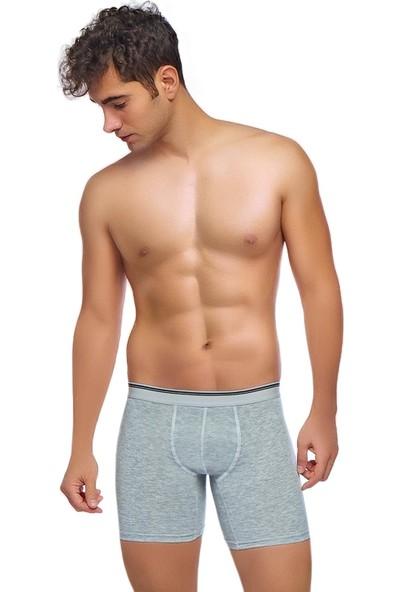 Donkshot 6'lı Likralı Uzun Erkek Boxer 1004