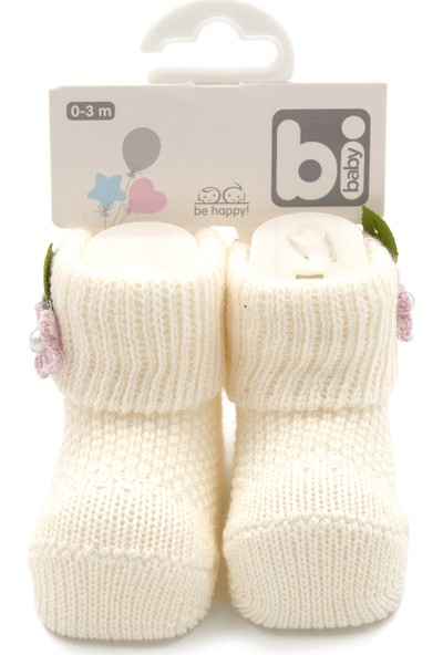 Bibaby Çiçekli Bebek Çorabı 68300