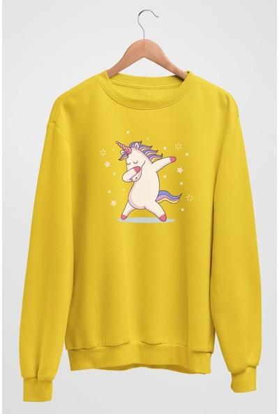 Angemiel Wear Unicorn Pembe Kadın Sweatshirt