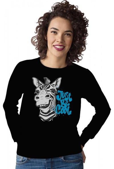 Angemiel Wear Just Be Cool Kadın Sweatshirt