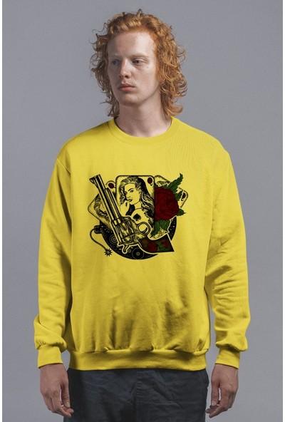 Angemiel Wear Poker Kadın Ve Gül Erkek Sweatshirt
