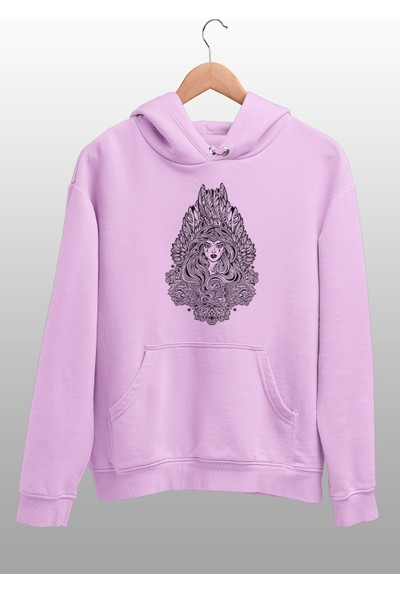 Angemiel Wear Yapraktan Kraliçe Pembe Erkek Kapüşonlu Sweatshirt