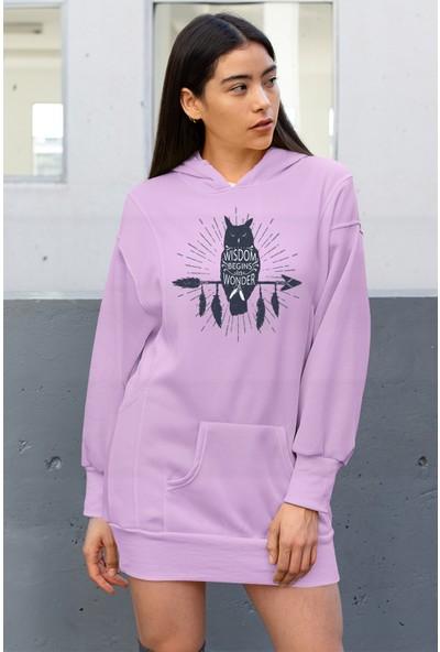 Angemiel Wear Black Wıngs Baykuş Elbise Sweatshirt Tunik
