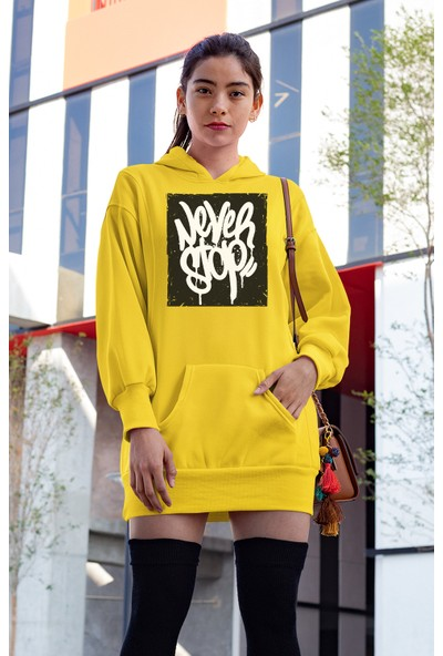 Angemiel Wear Never Stop Elbise Sweatshirt Tunik