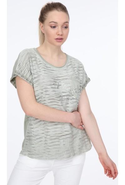 Pua Fashion Haki Cebi Payetli Bluz STD