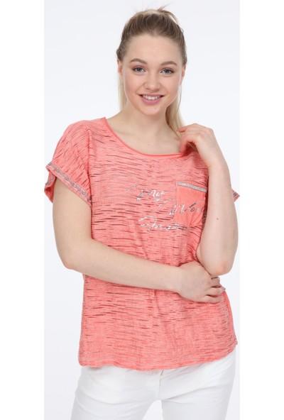Pua Fashion Mercan Cebi Payetli Bluz STD