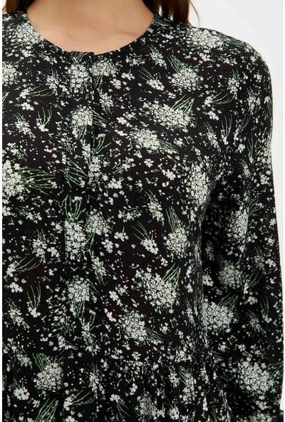 DeFacto Kadın Kol Detaylı Dokuma Elbise