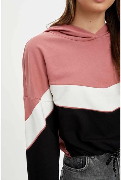 DeFacto Kapüşonlu Regular Fit Sweatshirt R1876AZ19CW