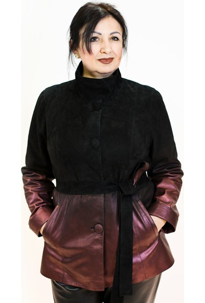 Bilgin's Rozi Siyah-Bronz Deri Kaban