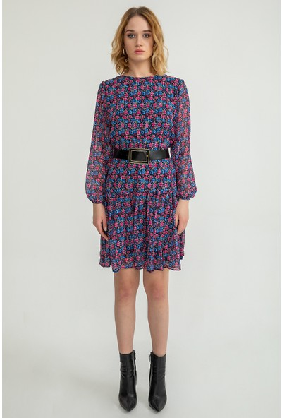 Foremia Kadın Çıtır Çiçek Desen Salaş Elbise