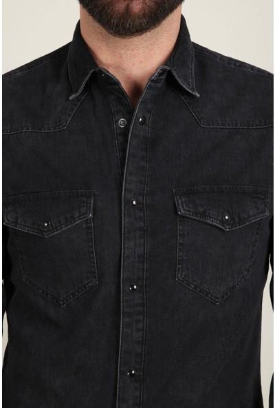 Z Giyim Erkek Gömlek Kot Çift Cepli Çıt Çıtlı 161ZGM20