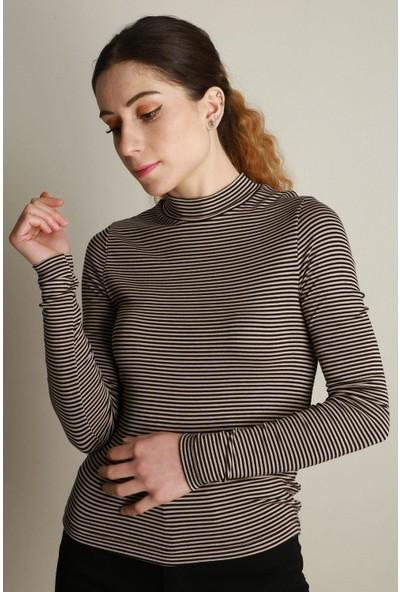 Z Giyim Kadın Çizgili Body İY007ZGM20