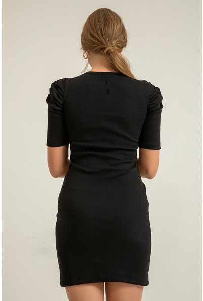 Foremia Kadın Kolu Büzgülü Elbise