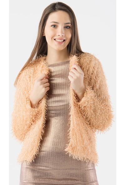 Yellowish Sim Saçaklı Ceket