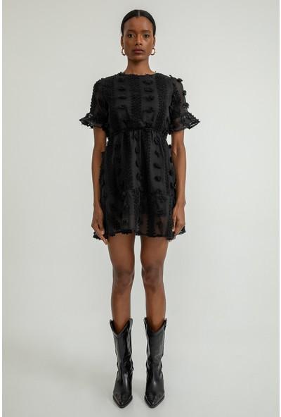 Foremia Kadın Ponponlu Tüllü Mini Elbise