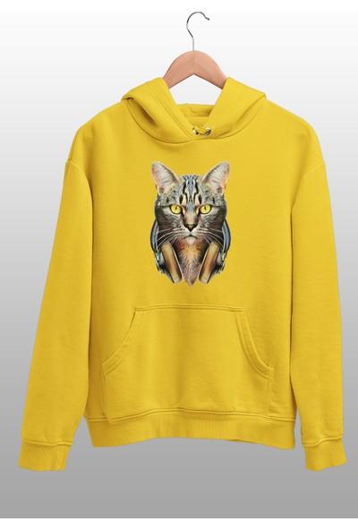 Angemiel Wear Kulaklıklı Kedi Erkek Kapüşonlu Sweatshirt